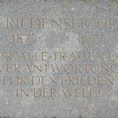 Friedenseiche Sossenheim Hinweistafel