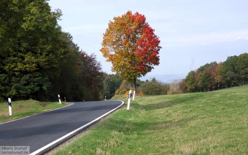 Herbst - Landstraße im Hintertaunus