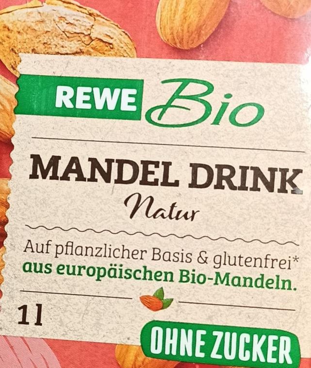 Mandel-Drink Verpackung, Ausschnitt